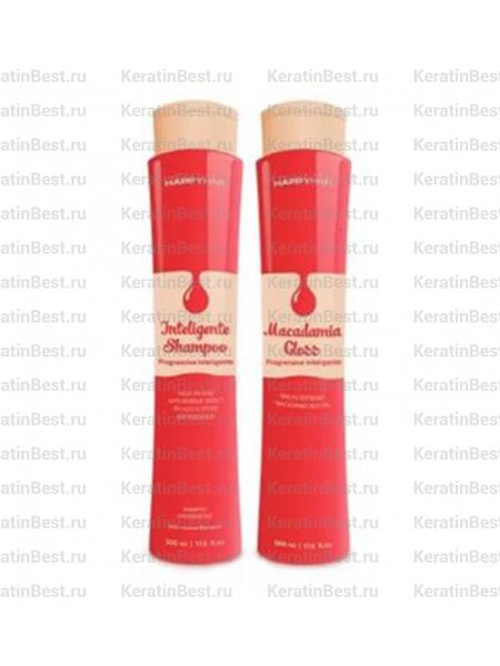 Happy Hair Macadamia Gloss (набор) 1000/1000 ml.