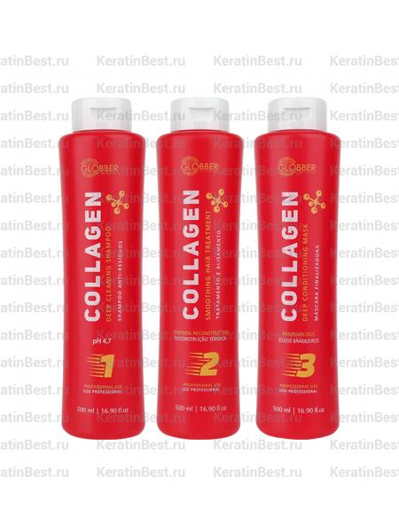 Globber Collagen (кератин, набор) - 500/500/500 ml.