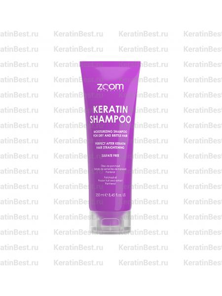 ZOOM Keratin Shampoo (Шампунь бессульфатный для домашнего ухода ) - 250ml.